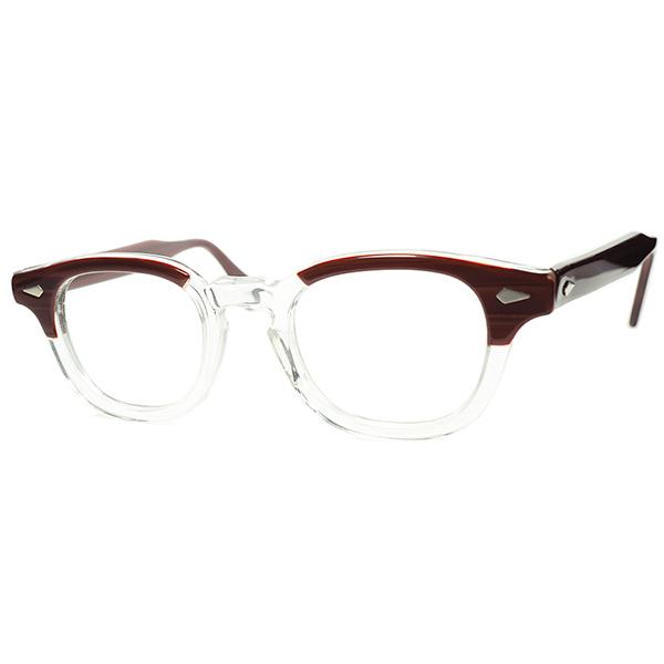 人気NO.1モデル 枯渇GOLDEN SIZE 1950s-60s デッドストック DEADSTOCK USA製 オリジナル TART OPTICAL タートオプティカル ARNEL タートアーネル ビンテージ 眼鏡 メガネsize44/22 REDWOOD a6085