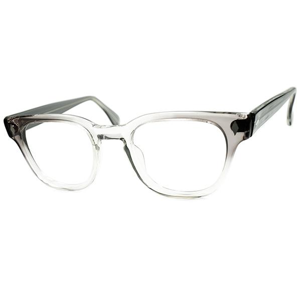 OLD CLASSIC BEAUTY 1960s USA製 FRMOST ブライアン型ダイヤヒンジ KEYHOLE ウェリントン 超美色 紫系GRAYフェード ビンテージ 眼鏡 メガネ size48/22 a6097