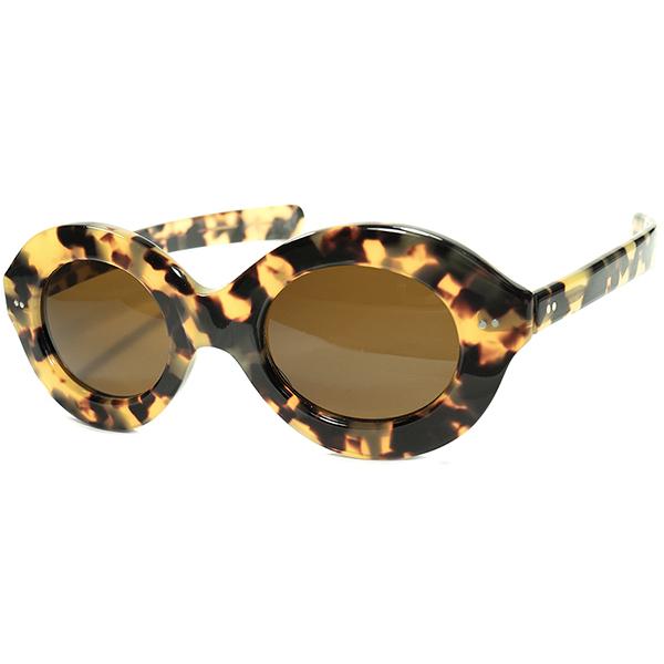 大技連発 初期オールドピース1960s-70s 英国製 MADE IN ENGLAND カトラーグロス CUTLER &GROSS 超WIDEリムx6mm肉厚FRONTx極太テンプル PANTO ヴィンテージ サングラス 眼鏡 メガネ a6109