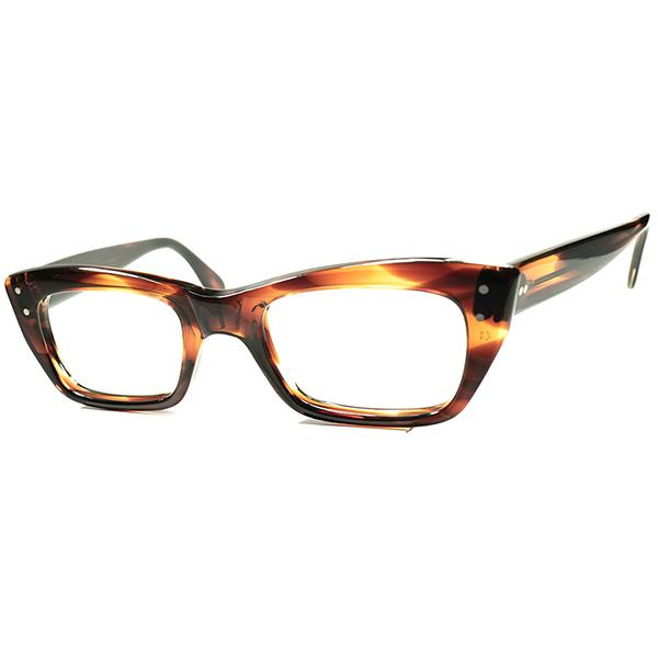 未復刻 SUPER RAREモデル 1950s-60s USA製 デッドストックDEADSTOCK TART OPTICAL タートオプティカル コンパクトシルエット CLASSIC ウェリントン ヴィンテージ 眼鏡 メガネsize44/22 a6164