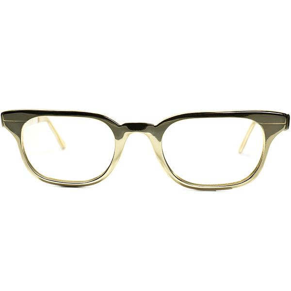 アメリカゴールデンエイジ 完全体現 1960s デッドストックDEADSTOCK USA製TURA オールゴールドMETALウェリントン size 47/21 ビンテージヴィンテージ 眼鏡メガネ A6165