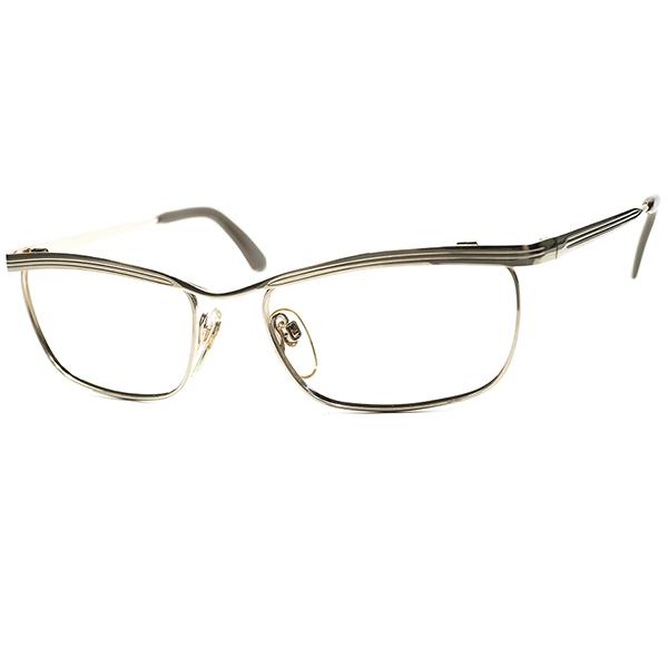 日本人向け 短縦実力派モデル 1960s-70s デッドストックDEADSTOCK WEST GERMANY 西ドイツ製 RODENSTOCK ローデンストック BEATRICE 1/20 12K 本金張 size52/18 ビンテージ 眼鏡 メガネ a6188