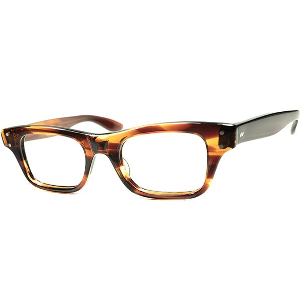 王道アメリカン・クラシック 1950s-60s USA製 デッドストック DEADSTOCK TART OPTICAL タートオプティカル BOEING size 44/20 鼈甲柄 ウェリントン ビンテージ 眼鏡 メガネ a6196