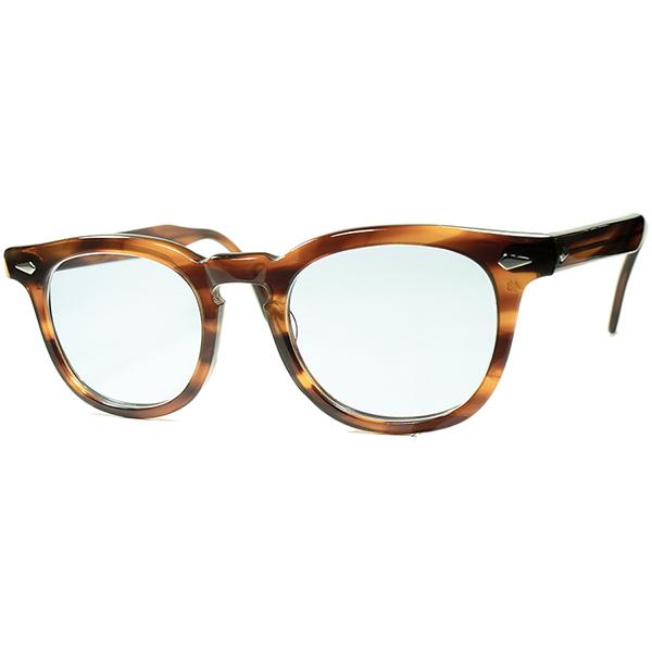 不動王座 デッド級 SUPER MINT個体 1950s-60s USA製 オリジナル TART OPTICAL タートオプティカル ARNEL タート アーネル ヴィンテージ 眼鏡 メガネ size48/22 ガラスLENS入 a6200