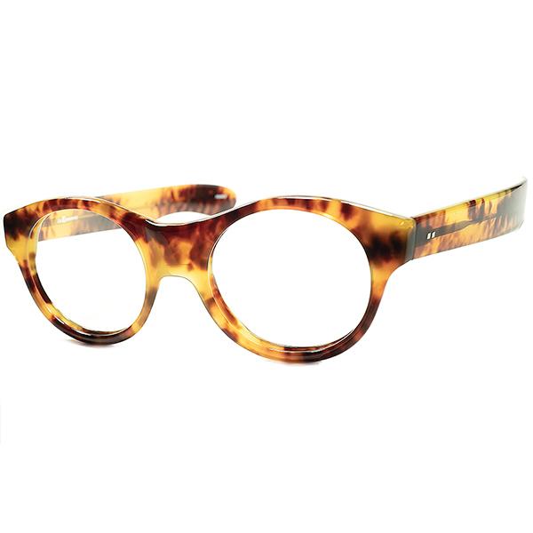 フランスメイド GOLDEN AGEリバイバル初期作品 1980s デッドFRANCE製 l.a.Eyeworksアイワークス 極太テンプル ヒンジレス PANTO ビンテージヴィンテージ 眼鏡メガネ a6213