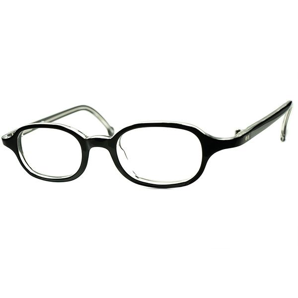 フレンチヴィンテージ INSPIRE 黒ベース1990s デッドストック DEADSTOCK ITALY製 アイワークス l.a.Eyeworks 小径アイ曲智型 PANTO ウェリントン BLACK SMOKE ビンテージヴィンテージ 眼鏡メガネ a6229