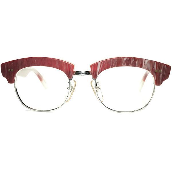 初期代表作品 グルメインスパイア 超鋭角DESIGN 1980s デッドストック DEADSTOCK ITALY製 l.a.Eyeworks アイワークス 極太ブロータイプ ビンテージヴィンテージ 眼鏡メガネ 霜降りミート柄 a6237