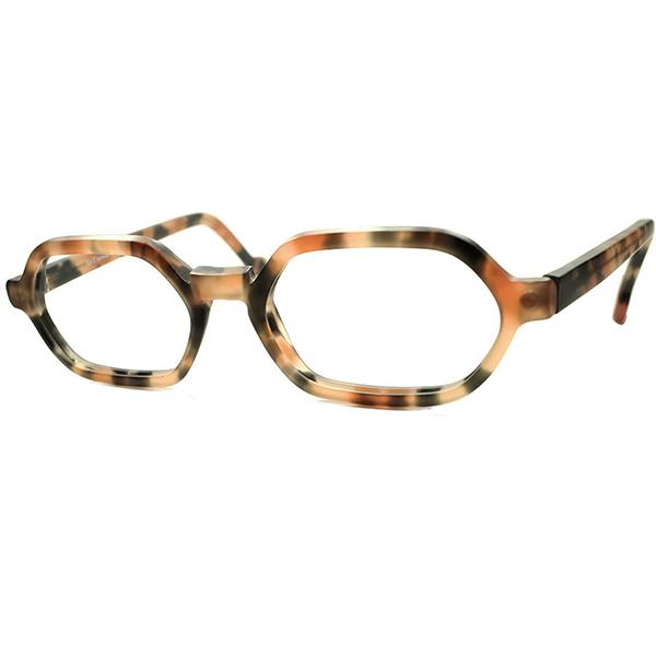 安定シンプル 万能ベーシック SPEC 1990s デッドストック DEADSTOCK ITALY製 l.a.Eyeworks アイワークス HEXAGONAL ウェリントン MATT AMBER ビンテージヴィンテージ 眼鏡メガネ a6240