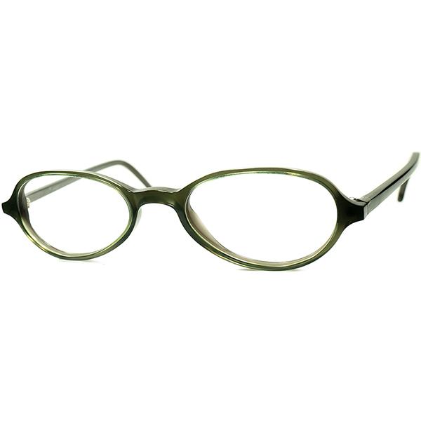 OLD FRENCH 忠実再現 渋目トーン 2000s デッドストック ITALY製 l.a.Eyeworks アイワークス 短縦幅アップデートBRITISH STYLE PANTO ビンテージヴィンテージ 眼鏡メガネ GREEN SMOKE a6245