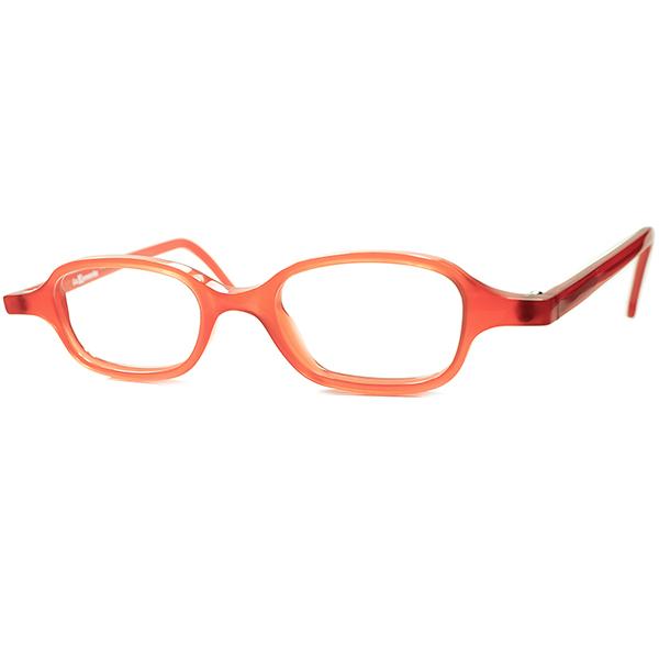 ORGANIC LOOK ビタミンカラー 1990s デッドストック ITALY製 l.a.Eyeworks アイワークス 小径xLONGマウント COMPACT ウェリントン ビンテージヴィンテージ 眼鏡メガネ TOMATO RED a6247
