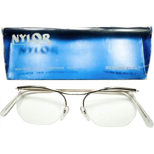 極限MINIMAL 小振り目MEDIUM SIZE個体 1960s フランス製 デッドストック FRAME FRANCE フレーム フランス 大御所 ESSEL エッセル 金張りxナイロール AMOR型 ビンテージヴィンテージ 眼鏡メガネ 49/17実寸 a6268