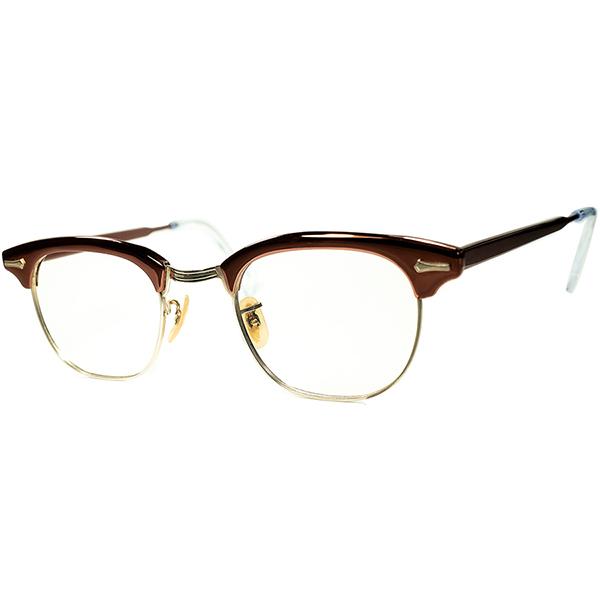 US史上ベストセラー 完成形ブロータイプ 1950s-60s オリジナル USA製 デッドストック DEADSTOCK SHURON RONSIR シュロン ロンサー 1/10 12KGF 本金張 ヴィンテージ 眼鏡 メガネsize 46/22 a6274