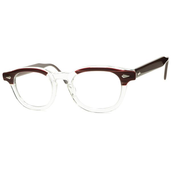 人気No.1ビンテージ眼鏡 高需要サイズ 1950s-60s デッドストュク DEADSTOCK USA製 TART OPTICAL タートオプティカル ARNEL タートアーネル size46/20 REDWOOD a6326