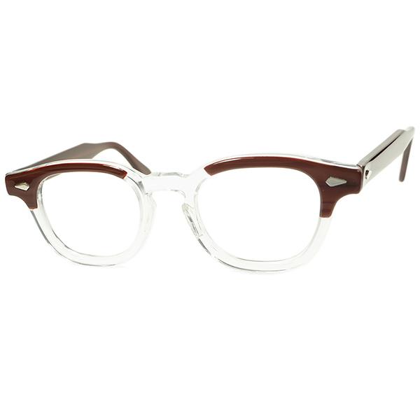 Most Popular Vintage 安定FITサイズ 1950s-60s デッドストック DEADSTOCK USA製 TART OPTICAL タートオプティカル ARNEL タートアーネル size44/20 REDWOOD ビンテージヴィンテージ 眼鏡メガネ a6327
