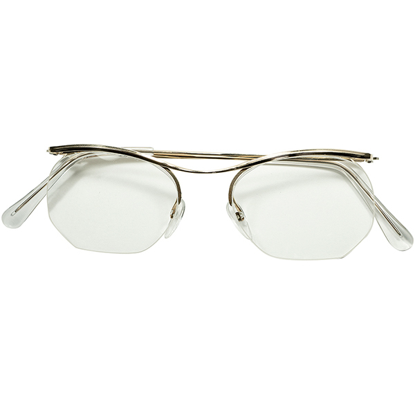 最高レベル顔馴染み実現 小顔向けサイズ SMALL個体 1960s フランス製 デッドストック FRAME FRANCE フレーム フランス 大御所 ESSEL エッセル 金張りxナイロール AMOR型 ビンテージヴィンテージ 眼鏡メガネ a6365