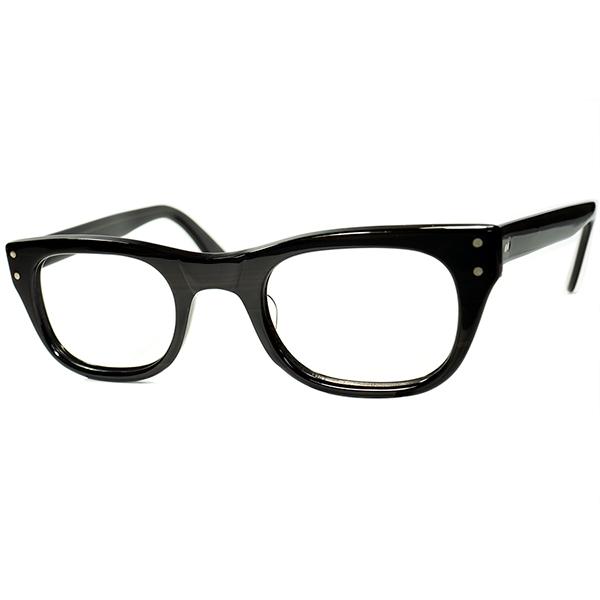 硬派ボシュロム似LOOK デイリーユース推奨個体 1960s デッドストック DEADSTOCK USA製 BROWNWOOD 2DOT ウェリントン size48/24 ビンテージヴィンテージ 眼鏡メガネ A6370