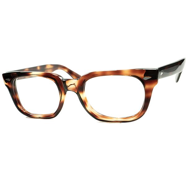 CLASSIC & STYLISHシンプルデザイン 1960s USA製 AO アメリカンオプティカル AMERICAN OPTICAL TOURNAMENT ダイヤヒンジウェリントン DEMI AMBER size48/21 ビンテージヴィンテージ 眼鏡メガネ A6381