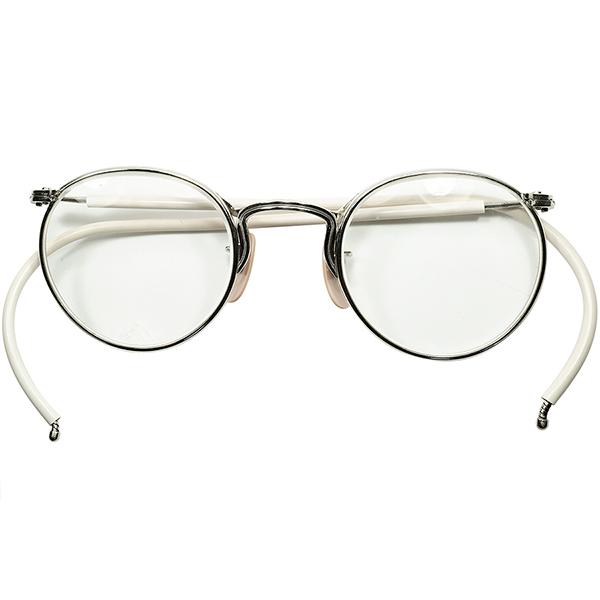 デッド同等最強個体 Mr. DOUG愛用 同一仕様 1930s USA製 アメリカンオプティカル AO AMERICAN OPTICAL インダストリアル FUL-VUE ラウンド 砂打 ガラスLENS ビンテージヴィンテージ 眼鏡メガネ 丸眼鏡 丸メガネ size45/23 a6387