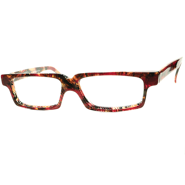 アーティスティック真骨頂デザイン 1980s-90s デッドストック デッドストック FRANCE製 MADE IN FRANCE オールドalain mikli アランミクリ OWN STYLEウェリントン ビンテージヴィンテージ 眼鏡メガネ A6434