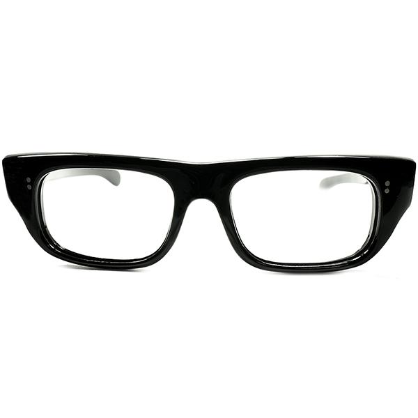 驚愕ギミック搭載 快適フィット実現 1950s-60s フランス製 デッドストック DEADSTOCK FRAME FRANCE フレーム フランス ベーシックウェリントン 実寸50/18 ビンテージヴィンテージ 眼鏡メガネ a6449