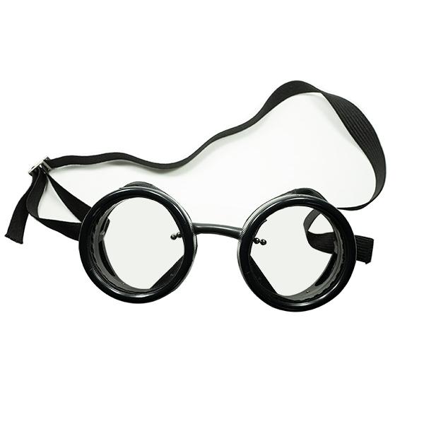 オールドディティール完全踏襲 1980sデッドストック DEADSTOCK USA製 AO AMERICAN OPTICAL アメリカンオプティカル ALL BLACK インダストリアルゴーグル着脱可能FLATガラスレンズ入 ビンテージヴィンテージ 眼鏡メガネ a6496