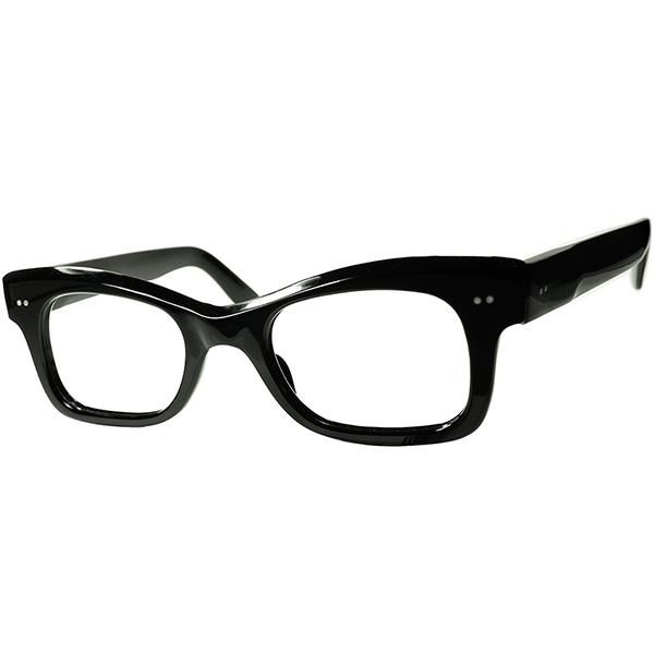 タートカウントダウンTASTE 1950s デッドストック DEADSTOCK FRAME FRANCE フレーム フランス フランス製 希少BLACK生地 WIDE-FRON 傾斜CUTTING ウェリントン ビンテージヴィンテージ 眼鏡メガネ a6546