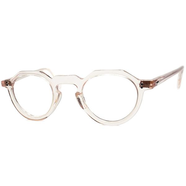 超GOODSIZEx人気カラー 極上個体 デッドストックDEADSTOCK 1950sフランス製オリジナル FRAME FRANCE フレーム フランス キーホールBRIDGE クラウンパント CROWN PANTO フレッシュ ビンテージヴィンテージ 眼鏡メガネ A6605