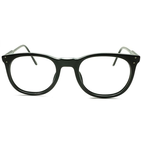 超実用的ベーシックデザイン 初期作品1980sフランス製 FRAME FRANCE フレーム フランス デッドストックDEADSTOCK l.a.Eyeworks アイワークス UK STYLEウェリントン MATT BLACK 46/22 ビンテージヴィンテージ 眼鏡メガネ a6779