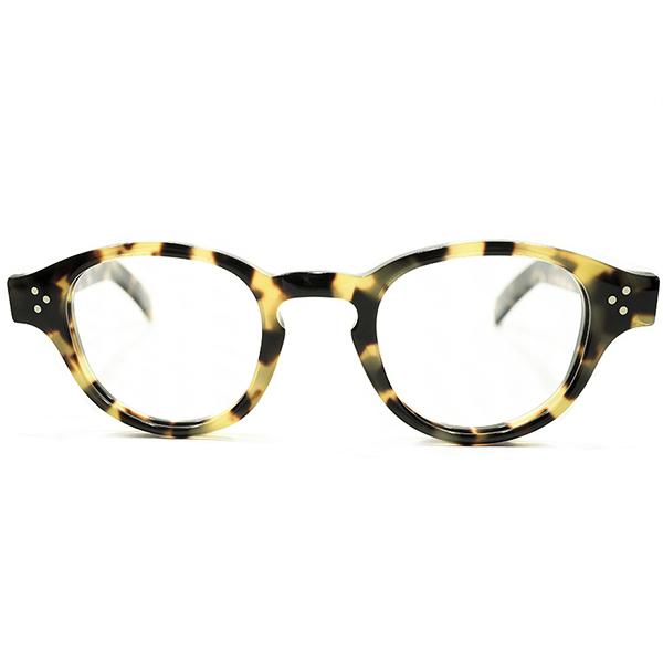 黄金時代リバイバル&GOOD SHAPE デッドストック 1980s フランス製 MADE IN FRANCE 3DOTヒンジ ARNEL型 キーホール パントフレーム PANTO 鼈甲柄 ヴィンテージ 眼鏡 メガネ A4086