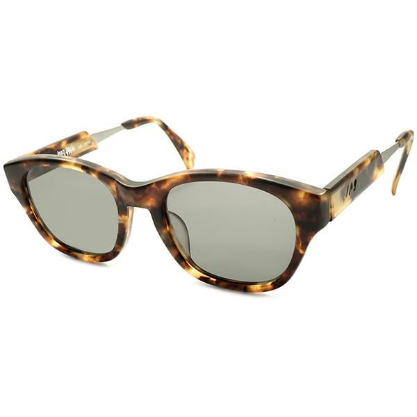 実用的超ハイクオリティ デッドストック 1990s 日本製 MADE IN JAPAN ジャンポールゴルチエ Jean Paul GAULTIER MATT AMBER 平面レンズ入 ウェリントン サングラス ビンテージヴィンテージ 眼鏡メガネ A4156