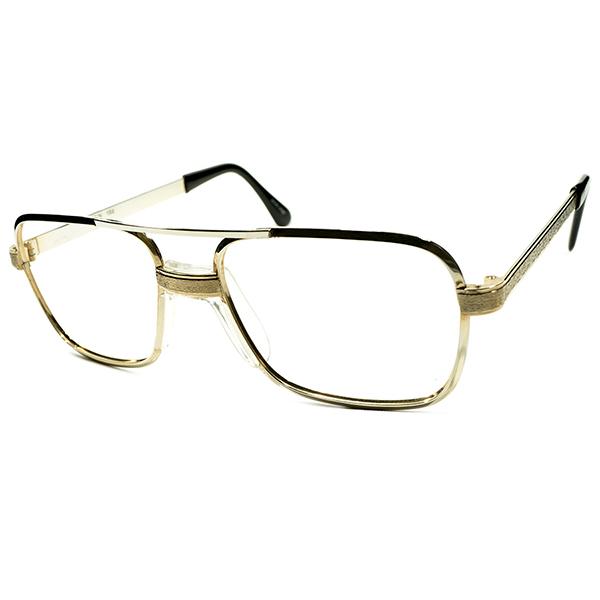 逆輸入 珍品 デッドストック 1970s 日本製 MADE IN JAPAN SRO STYL RITE OPTICS W-BRIDGE 後付けブリッジ GOLD METAL アビエーター型 ビンテージヴィンテージ 眼鏡メガネ A4293