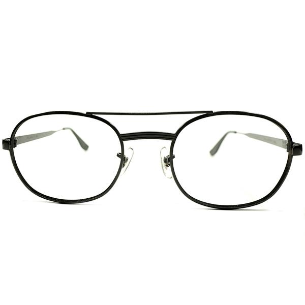 当時的最速デザイン デッドストック 1960s-1970s アメリカ製 MADE IN USA ボシュロム BAUSCH&LOMB B&L MATT BLACK 艶消し黒 WIDE-FRONT ミリタリーSTYLE アビエーター ビンテージヴィンテージ 眼鏡メガネ size 56/24 A4334