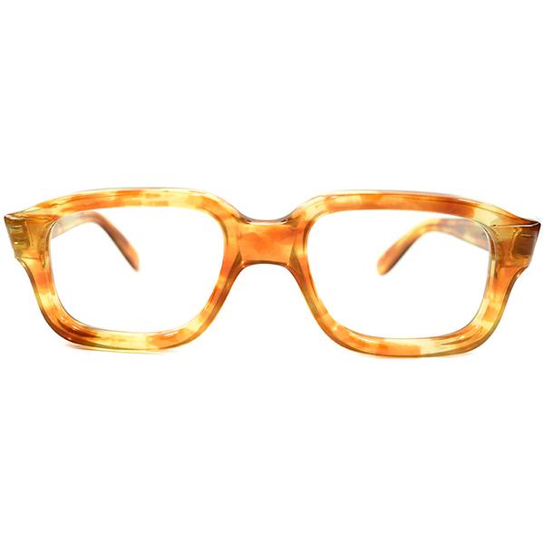 骨太OLDシェイプ デッドストック 1950s-1960s フランス製 MADE IN FRANCE ピエールカルダン PIERRE CARDIN 鼈甲柄 AVIATOR STYLE 肉厚 ウェリントンフレーム ヴィンテージ メガネ 眼鏡 A4368