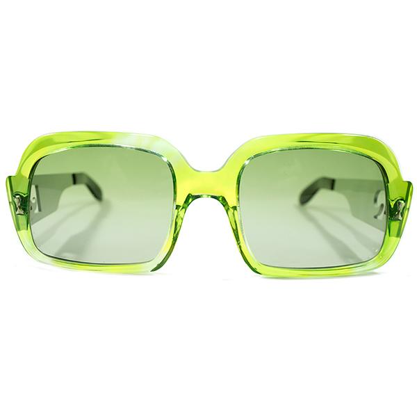 斬新コンビネーション 1960-1970s デッドストック フランス製 MADE IN FRANCE PIERRE CARDIN ピエールカルダン GREEN CRYSTAL×MATT SILVER アビエーター型 ヴィンテージ 眼鏡 サングラス A4369
