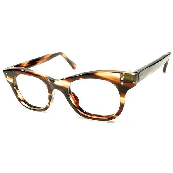 硬質ハイクオリティBASIC 1960s デッドストック 英国製 MADE IN ENGLAND 2ドット 鼈甲柄 5mm肉厚 CLASSIC ウェリントン ヴィンテージ メガネ 眼鏡 A4398