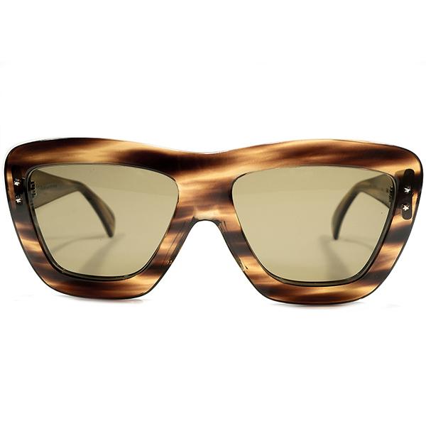 創業初期AVANT-GARDEピース 1960s-1970s ハンドメイド英国製 HAND MADE IN ENGLAND カトラーアンドグロス CUTLER&GROSS 立体6角星ヒンジ モダンフレーム 日本製ガラスLENS入 サングラス ビンテージヴィンテージ 眼鏡メガネ A4409