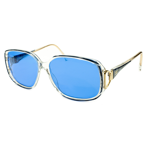 英国老舗解釈 OLD SCHOOL 1970s-1980s 英国製 MADE IN ENGLAND オリバーゴールドスミス OLIVER GOLDSMITH 日本製インディゴBLUEレンズ入 モダンフレーム サングラス ヴィンテージ メガネ 眼鏡 A4412