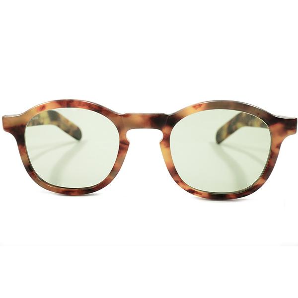 フレンチ名作再現SUNGLASS仕様 デッドストック 1980s 英国製 MADE IN ENGLAND アングロアメリカン ANGLO AMERICAN EYEWEAR マットアンバー FRENCHアーネル size47/22 ヴィンテージ メガネ 眼鏡 A4413