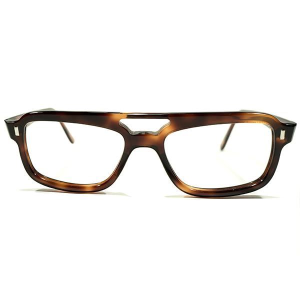 MODERN×MILITARY デッドストック 1960s フランス製 MADE IN FRANCE W-BRIDGE 鼈甲柄 アビエーター型 ウェリントン ビンテージヴィンテージ 眼鏡メガネ A4428