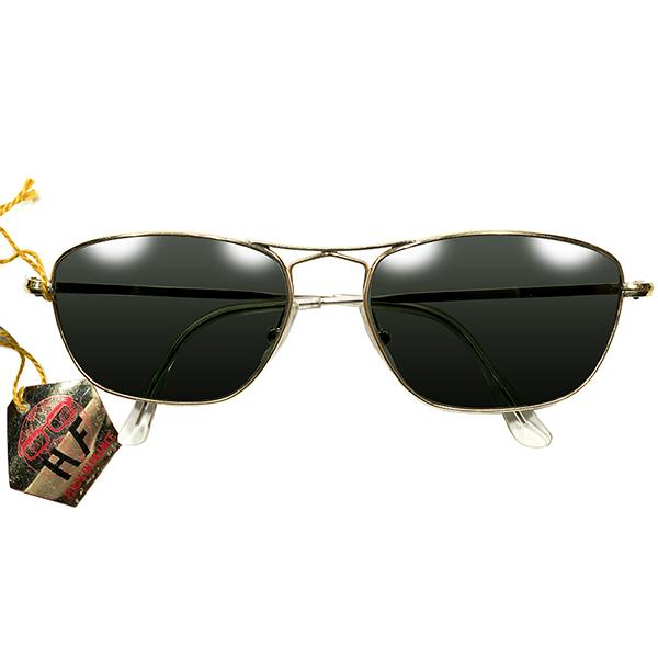 HIGH QUALITY 最高ランク タグ付デッドストック 1950s フランス製 MADE IN FRANCE 変形ブリッジ 本金張りゴールドメタル AVIATORサングラス アビエーター G-15系ガラスレンズ入 ヴィンテージ メガネ 眼鏡 A4435
