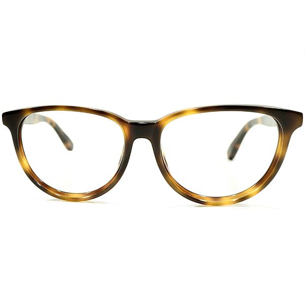 実用的ハイクオリティ 1980s デッドストック 英国製 MADE IN ENGLAND DARK AMBER 鼈甲柄 メタルフィニッシュ ウェリントン ヴィンテージ メガネ 眼鏡 A4458