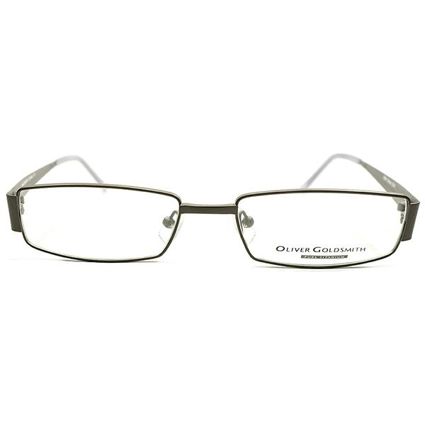 超軽量チタン素材 デッドストック 1990-2000s イタリア製 MADE IN ITALY OLIVER GOLDSMITH オリバーゴールドスミス MATT BRONZE スクエア型 ビンテージヴィンテージ 眼鏡メガネ A4558