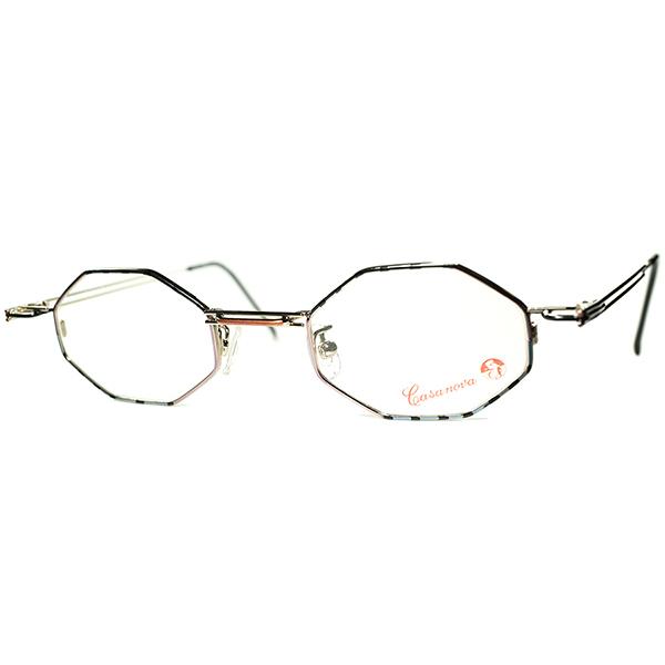 未体験ゾーンTRICKYシンメトリーワールド 1980s-90s Italy製 デッドストック Casanova カサノヴァ コンポジション 八角形 OCTAGON ビンテージヴィンテージ 眼鏡メガネ a6131