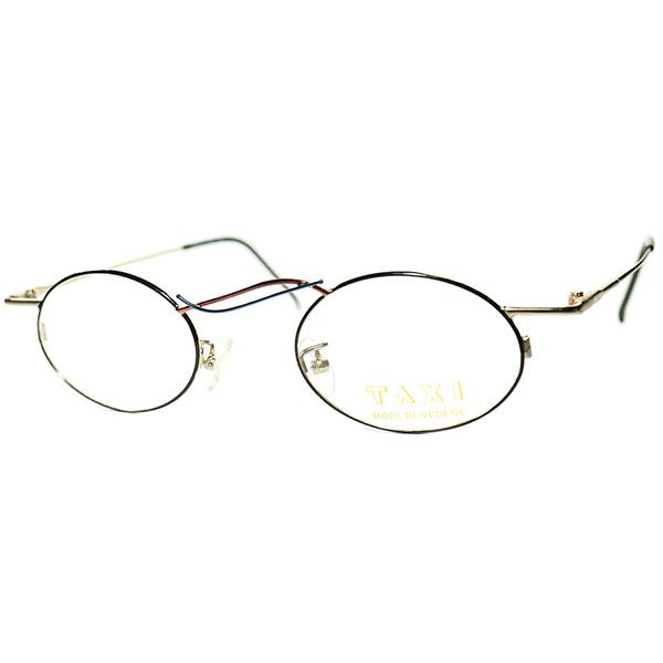 ブリッジレス? UNIQUE & TRICKY 1980s-90s Italy製デッドストック TAXI by Casanova カサノヴァ コンポジション OVALラウンド 丸眼鏡 ビンテージヴィンテージ 眼鏡メガネ a6204