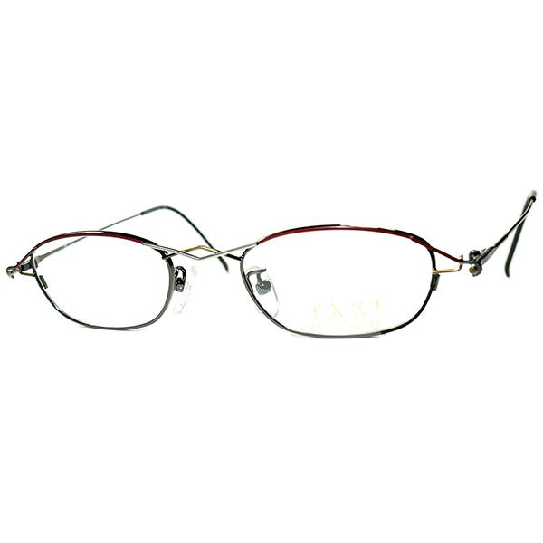絶妙アクセント&色彩感覚 1980s-90s Italy製デッドストック TAXI by Casanova カサノヴァ ABSTRACTブロータイプ仕立てウェリントン ビンテージヴィンテージ 眼鏡メガネ a6296