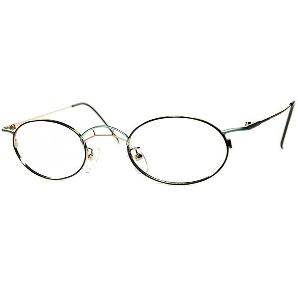 変則的曲線美 1980s-90s Italy製デッドストック TAXI by Casanova カサノヴァ ABSTRACT コンポジションOVALラウンド 丸眼鏡 ビンテージヴィンテージ 眼鏡メガネa6298