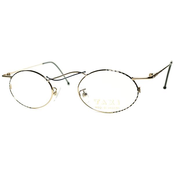 流動的アシンメトリー美 1980s-90s Italy製 デッドストック TAXI by Casanova カサノヴァ コンポジション OVAL 丸眼鏡 丸メガネ ビンテージヴィンテージ 眼鏡メガネ a6299