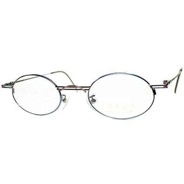 新ジャンルEYEWEAR DESIGN1980s-90s Italy製デッドストック TAXI by Casanova カサノヴァ ABSTRACTコンポジションOVALラウンド丸眼鏡 ビンテージヴィンテージ 眼鏡メガネa6457