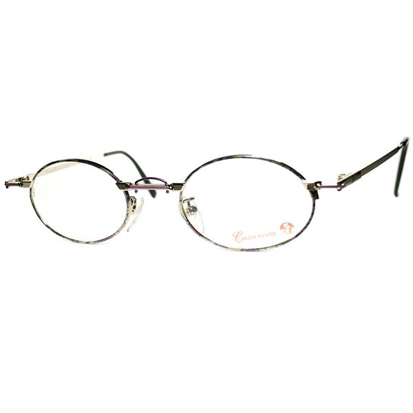 ABSTRACT ART黎明期インスパイア 1980s-90s Italy製 デッドストック Casanova カサノヴァ コンポジション OVALラウンド 丸眼鏡 size44/21 ビンテージヴィンテージ 眼鏡メガネ a6460