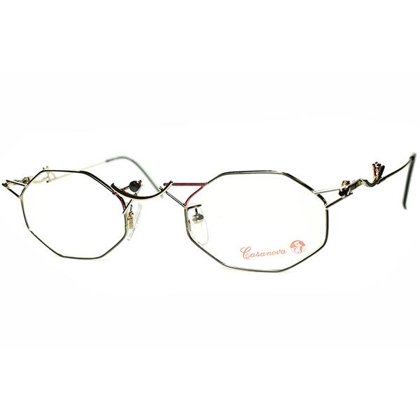 元BAUHAUSマイスター 巨匠KANDINSKYモデル1980s-90s Italy製 デッドストック Casanova カサノヴァ コンポジション 八角形 OCTAGON ビンテージヴィンテージ 眼鏡メガネ a6464